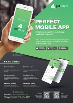 Mobile Application Promotion Flyer Template, is perfectly suitable for promoting your mobile application, android app, ios app or any other application software. Download https://graphicriver.net/item/mobile-app-flyer/16149992?ref=themedevisers