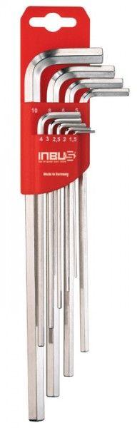 INBUS® 70013 - Lang 9tlg. 1,5-10mm Made in Germany      Satz 9tlg. 1.5-10mm     dank Eurolochung aufhängbar     10 Jahre Garantie     Marke: INBUS® - Das Original seit 1934.  http://www.inbus.de/home/inbus-metrisch/6/inbus-70013-inbusschluessel-satz?c=12