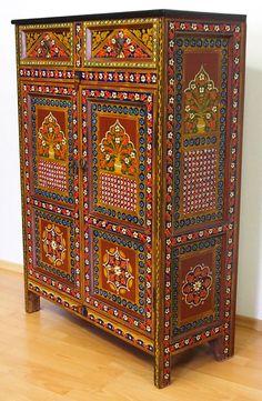 Exklusive antik-look orient Schrank Sideboard  Regal console cupboard cabinet N3
