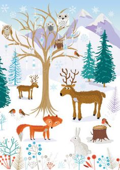 Roger la Borde | Festive Critters Christmas Card by Roger la Borde