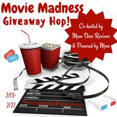 Mom Does Reviews and Powered by Mom are excited to share this new giveaway hop with you! The Movie Madness Giveaway Hop is a great ways to increase your traffic!  After all, everyone loves movies! The more bloggers that join, the more traffic you get...