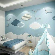 Modern Kids Bedroom, Cool Kids Bedrooms, Boys Bedroom Furniture, Diy Home Decor Bedroom, Furniture Ideas, Living Room Sofa Design, Home Room Design, Kids Room Accessories, Bedroom Wall Designs