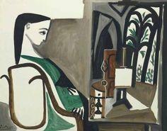 Femme dans l'atelier, 1956, Pablo Picasso. (1881 - 1973)