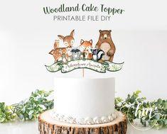 Woodland Cake, Woodland Party, Woodland Theme, Sweet Party, Torta Baby Shower, Cake Kit, Happy Birthday Cake Topper, Festa Party, Baby Shower Decorations