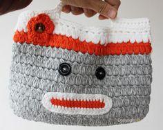 Girl Kids Handmade Crochet Cute Owl Sock Monkey Handbag Purse Bag Bmm | eBay