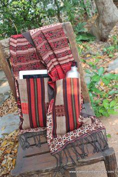 Party Pocket Scarf Hand Woven Naga Pockets by SiameseDreamDesign