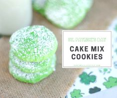 Cake Batter Cookies, Cake Mix Cookie Recipes, Cooking Classes For Kids, Cooking With Kids, St Patrick's Day Cookies, Sweets Recipes, Desserts, St Patricks Day Food, Green Food Coloring