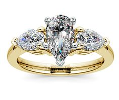 Pear Diamond Engagement Ring in Yellow Gold http://www.brilliance.com/engagement-rings/pear-diamond-ring-yellow-gold-3/4-ctw