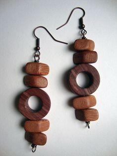 Wooden Bead Earrings https://www.etsy.com/shop/artXessories