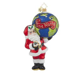 "Christopher Radko Ornament - ""A Global Gent"""