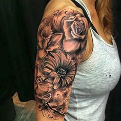 #tattoo #flowers #shading