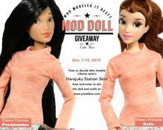 Mod Doll Giveaway - Win a Disney Princess Fashion Doll and Liberty Jane Outfit! Sewing Doll Clothes, Sewing Dolls, Girl Doll Clothes, Doll Clothes Patterns, Barbie Clothes, Girl Dolls, Barbie Dolls, Dolls Dolls, Disney Princess Fashion