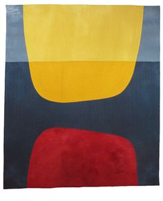 I have taken another leap further into minimalism. I'm saying it all with 5 colors and a handful of seams. Color, shape and texture are center stage.  Allow me to introduce Dipped Dimension, 47″ x 40″, $2800. It has been juried into Quilts=Art=Quilts (QAQ) at the Schweinfurth Art Center. It is their 34th annual juried quilt exhibition. http://kathleenprobst.com/?p=5564