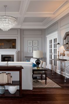 Classic Interior, Neoclassical, Open Plan, Classic Style, Beautiful Homes, New Homes, Living Room, Interior Design, Architecture