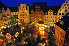 Hildesheim, Germany- I think this is where the idea came from for those little Christmas model scenes.