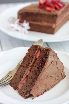 Paleo Chocolate Cake with Paleo Chocolate Frosting  #RubiesAndRadishes