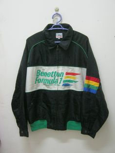 BENETTON FORMULA 1 Racing TEam JaCKET NiCE DESiGN COMFORTaBLE USE by 89bleach on Etsy Team Jackets, Racing Team, Benetton, Formula 1, Cool Designs, Nice, Trending Outfits, Sweatshirts, Sweaters