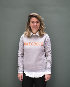 Hi from Lotte in our limited edition Kingsday sweater! She is working in our Production & Logistics department.