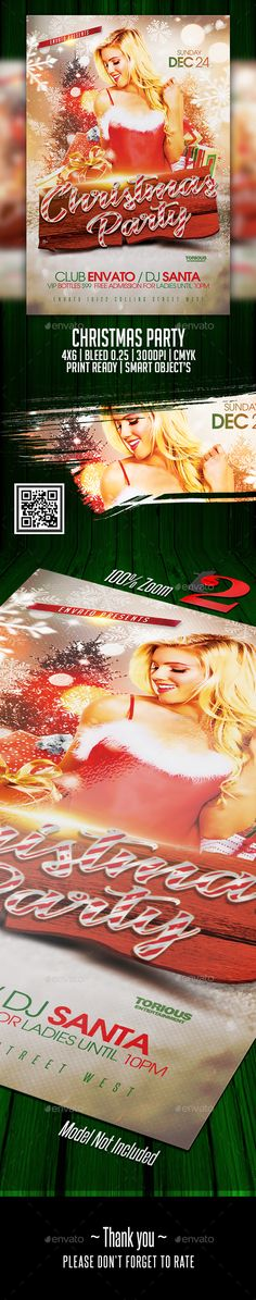 Christmas Party Flyer Template - Holidays Events Hello everyone. This is a cool flyer for a NightClub or House Party celebration, For you to promote your next Big Event, Club, Magazine or whatever you want it's 300 DPI. You can also use it as a Poster or E-flyer, it's up to your imagination!..