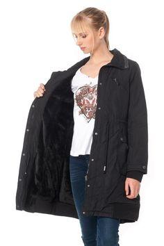 ΜΠΟΥΦΑΝ ΜΕ ΑΠΟΣΠΩΜΕΝΗ ΚΟΥΚΟΥΛΑ 149,90€ Ale, Bomber Jacket, Coat, Jackets, Fashion, Down Jackets, Moda, Sewing Coat, Fashion Styles