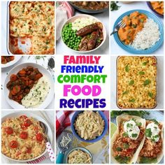 Hearty casseroles (that the kids will actually eat!), One Pot Pasta Recipes, Pies and Kid-Friendly Family Curry recipes to name just a few! If you are looking for Family Friendly Comfort Food, then you're going to love these recipes! #comfortfood #familycomfortfood Mild Chicken Curry Recipe, Yummy Chicken Recipes, Lasagne Recipes, Pasta Recipes, Dinner Recipes, Easy Family Dinners, Curry Recipes, Main Meals, Pasta Dishes