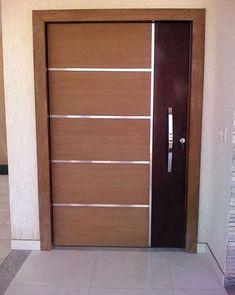 Best Modern Door Designs From Wood - JustHomeIdeas Flush Door Design, Home Door Design, Door Gate Design, Barn Door Designs, Door Design Interior, Wooden Front Door Design, Main Entrance Door Design, Modern Wooden Doors, Modern Door