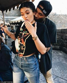 Going strong: Kylie confirmed her romance with rapper Tyga, 26, after turning 18 in August. She shared this selfie of the two of them on her Instagram last week