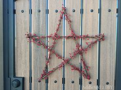 Make your own Pottery Barn-Inspired star wreath with a few simple supplies and for a fraction of the price!