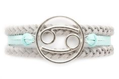 Cancer bracelet design by Ashley Bridget. Inspired by the water element in Cancer, it represents what Cancer is: loyal, empathetic and sensitive. Fashionscopes Fans get 65% click here https://ashleybridget.refersion.com/l/8cf.8820 and ad code Scope65