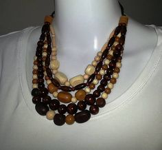 Gennt / drevené hnedé korále