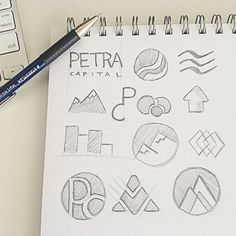 Thumbnail Sketch: 50 Key Graphic Design Terms Explained Simply For Non-Designers – Design School Typo Design, Graphic Design Branding, Sketch Design, Icon Design, Corporate Design, Idea Generation Techniques, Logos Color, Logo Sketches, Thumbnail Sketches