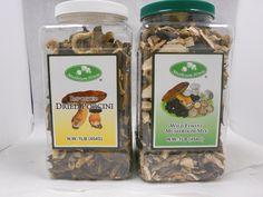 Mushroom House Dried Porcini And Forest Blend Mushrooms 1lb Jars  516-942-9312 ext 214 Shari. Wholesalers, Distributors, and Retailers.