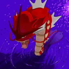Titan the red Gyarados by LadyMurkrow on DeviantArt