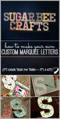DIY Custom Marquee Letters