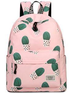 School Bookbags for Girls, Cute Cactus Backpack College Bags Women Daypack Travel Bag by Mygreen (Pink) Cactus Backpack, Laptop Backpack, Backpack Bags, Travel Backpack, Fashion Backpack, Diaper Backpack, Laptop Bags, Messenger Bags, Cute Backpacks For School