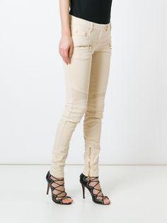 Balmain байкерские джинсы кроя скинни