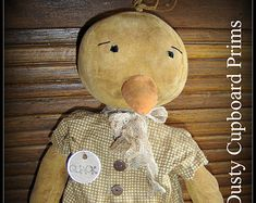 Miss Quackers~ Prim Duck Doll E pattern