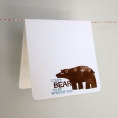 Bear Note Card with Envelope by lifewithtigers on Etsy, $3.00