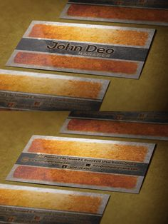 Nice and cool Texture Business card
