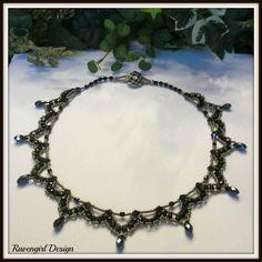 OPERA Vintage Style Beaded Black Necklace by Ravengirl Design