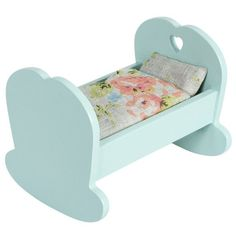 Maileg Cradle for Baby Mouse, Blue