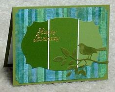 Masculine paint chip card by cards4joy - Cards and Paper Crafts at Splitcoaststampers