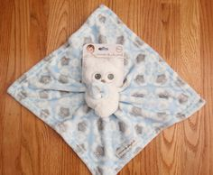 Blankets & Beyond Baby Boy Plush Security Blanket ~ Owls ~ Blue, White & Gray ~  #BlanketsandBeyond