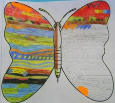 Will give the kids a blank butterfly and get them to colour it creating a pattern. Use during our pattern unit.