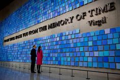 Kate William NYC September 11th Memorial Inside at Virgil Quote via Sept11Memorial