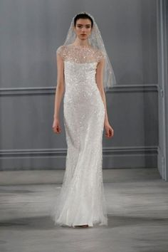 Wedding dress con dettagli luminosi Monique Lhuillier