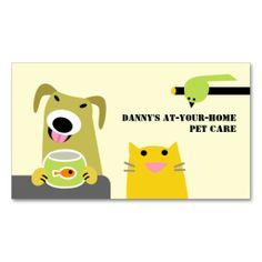 Pet Care Professional Business Cards. This is a fully customizable business card and available on several paper types for your needs. You can upload your own image or use the image as is. Just click this template to get started!