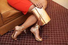 sandália e bolsa ros