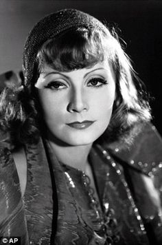 Film legend Greta Garbo pictured in the 1931 film Susan Lenox (Her Rise and Fall)