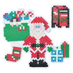 perler beads designs christmas | Perler Bead Christmas Patterns